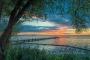 Abendrot-Steg-Bootssteg-Sonnenuntergang-Abendhimmel-Daemmerung-Abendstimmung-Abendlicht-Steinhuder Meer-A_NIK500_1142