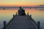 Fotos-Bilder-Paar-Zweisamkeit-See-Steg-Landschaftsfotos-Naturfotos-Silhouette-Abendstimmung-Abendrot-Steinhude-Steinhuder Meer-Naturpark-Landschaft-B_DSC5204a