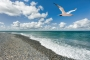 landschaft-Strand-Basstoelpel-Welle-blauer-himmel-weisse wolken-Helgoland-G_O1I0998a