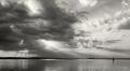 Landschaftsfotos-Naturfotos-Abendstimmung-Wolkenstimmung-Wolkenhimmel-Schwarz-Weiss-Steinhude-Steinhuder Meer-Naturpark-A_NIK0242a-sw