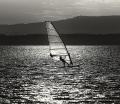 Landschaftsfotos-Naturfotos-Windsurfer-Windsurfing-Wassersport-Sport-Silhouette-Surfer-Schwarz-Weiss-Steinhude-Steinhuder Meer-Naturpark-AXO1I8645sw
